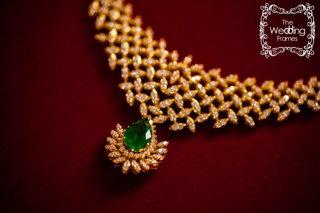 Gold and Diamond Bridal Necklace With Intricate Design by The Wedding Frames Wedding-photography | Weddings Photos & Ideas