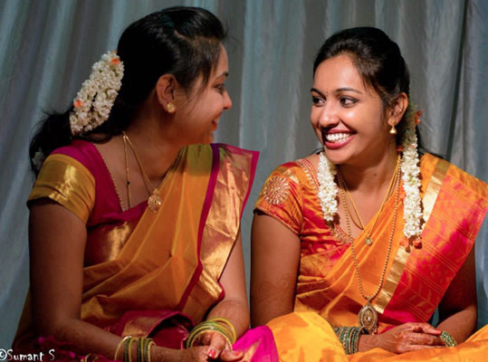 Bride and Friend Of The Bride Wearing Yellow Silk Sarees by Sumant 's photography  Wedding-photography | Weddings Photos & Ideas