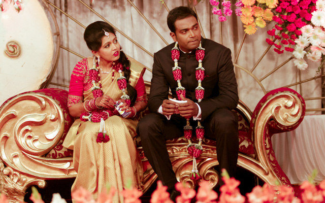 Candid Bride and Groom Shot During Their Reception by Great Indian Weddings Wedding-photography | Weddings Photos & Ideas