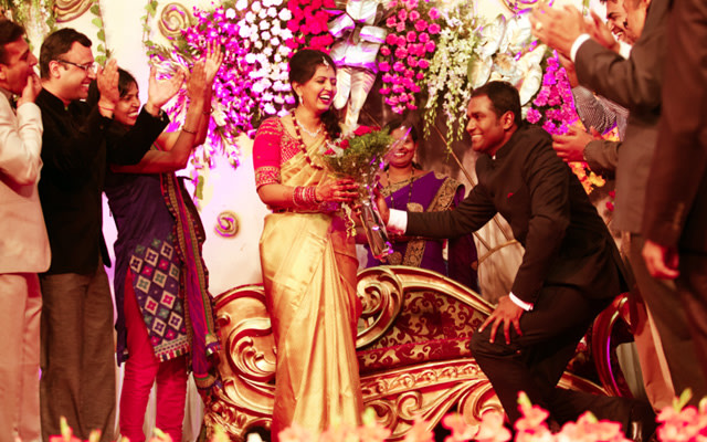 Romantic Bride and Groom Moment During Their Reception by Great Indian Weddings Wedding-photography | Weddings Photos & Ideas