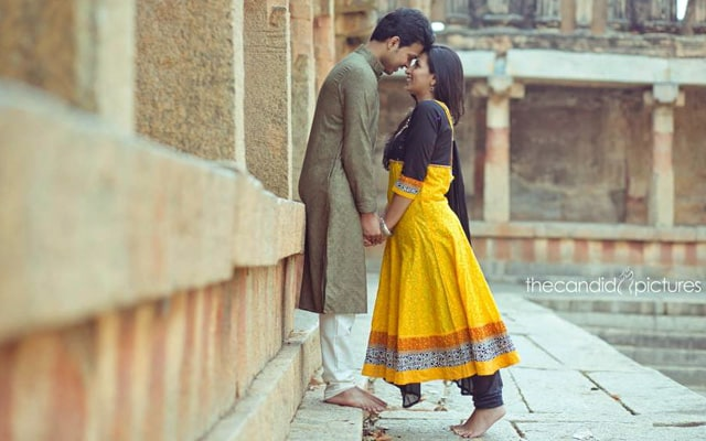 Bride-To-Be Wearing a Black and Yellow Indian Suit by Kiran Kumar J Wedding-photography | Weddings Photos & Ideas