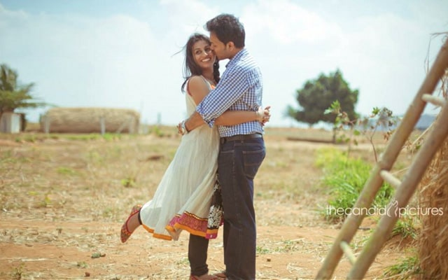 Bride and Groom-To-Be Against a Rustic Backdrop by Kiran Kumar J Wedding-photography | Weddings Photos & Ideas