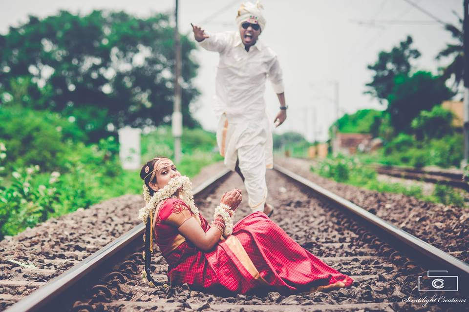 Gutsy Couple Shooting By the Railway Tracks by Gracian Wedding-photography | Weddings Photos & Ideas