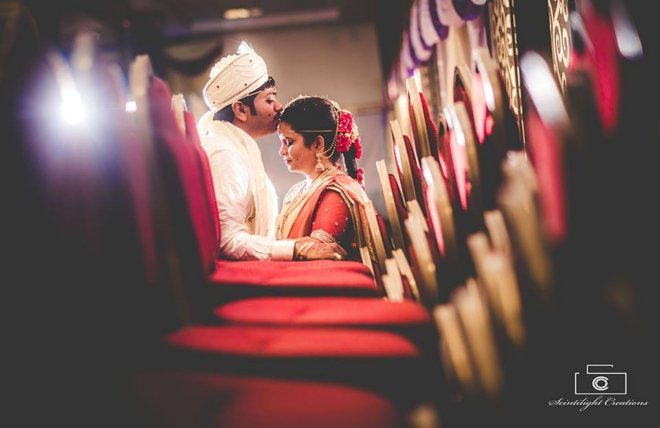 Romantic Pose by a Marathi Couple by Gracian Wedding-photography | Weddings Photos & Ideas