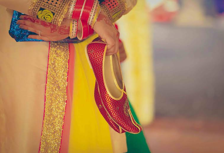 Red and Gold Bridal Jutti by Pixel Blender Wedding-photography | Weddings Photos & Ideas
