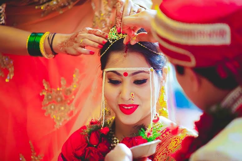 Marathi Bride With Bold Eyes and Lips Makeup Style by Pixel Blender Wedding-photography | Weddings Photos & Ideas