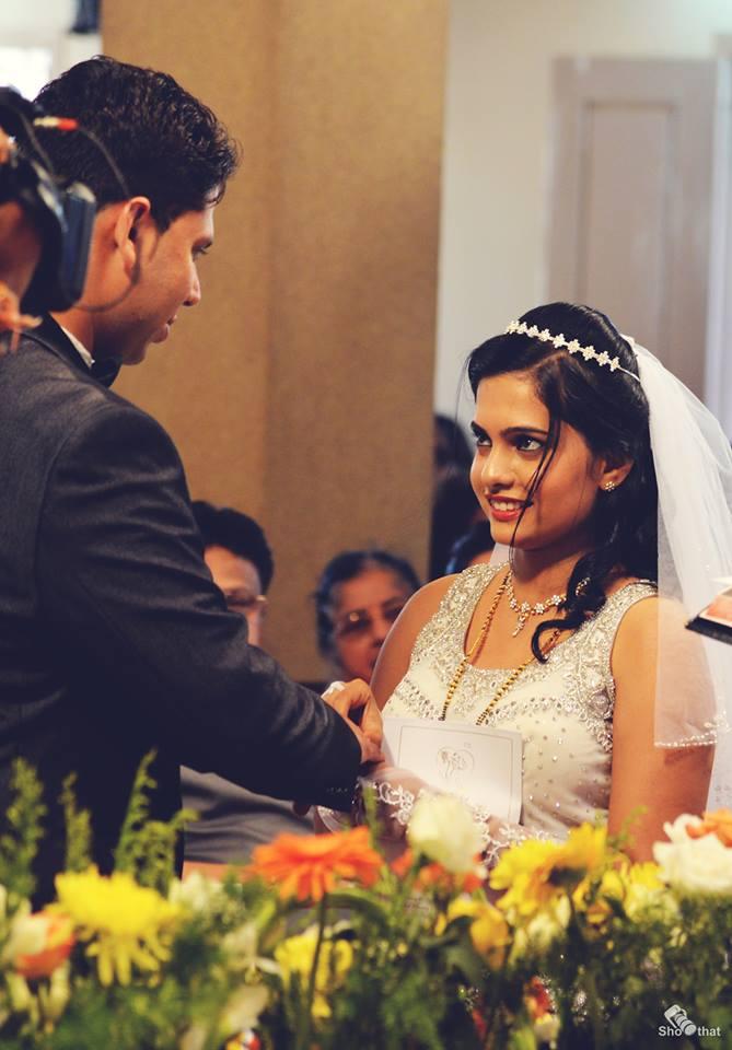 Elegant Christian Bride With Diamond Tiara by Yateesh Wedding-photography | Weddings Photos & Ideas
