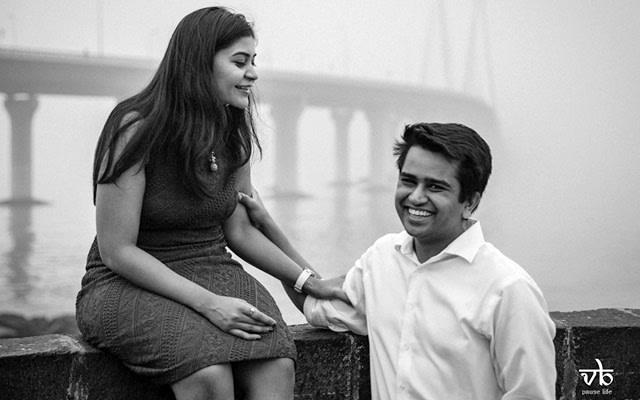 Lively Bride and Groom Shoot Against Bridge Backdrop by Varun Bhatt Wedding-photography | Weddings Photos & Ideas