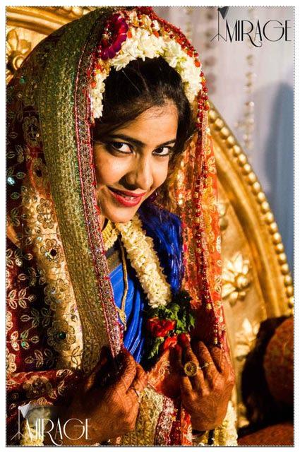 Bride Wearing Heavy Gold Zardozi Work Lehenga by Vishnu Bharath Wedding-photography | Weddings Photos & Ideas