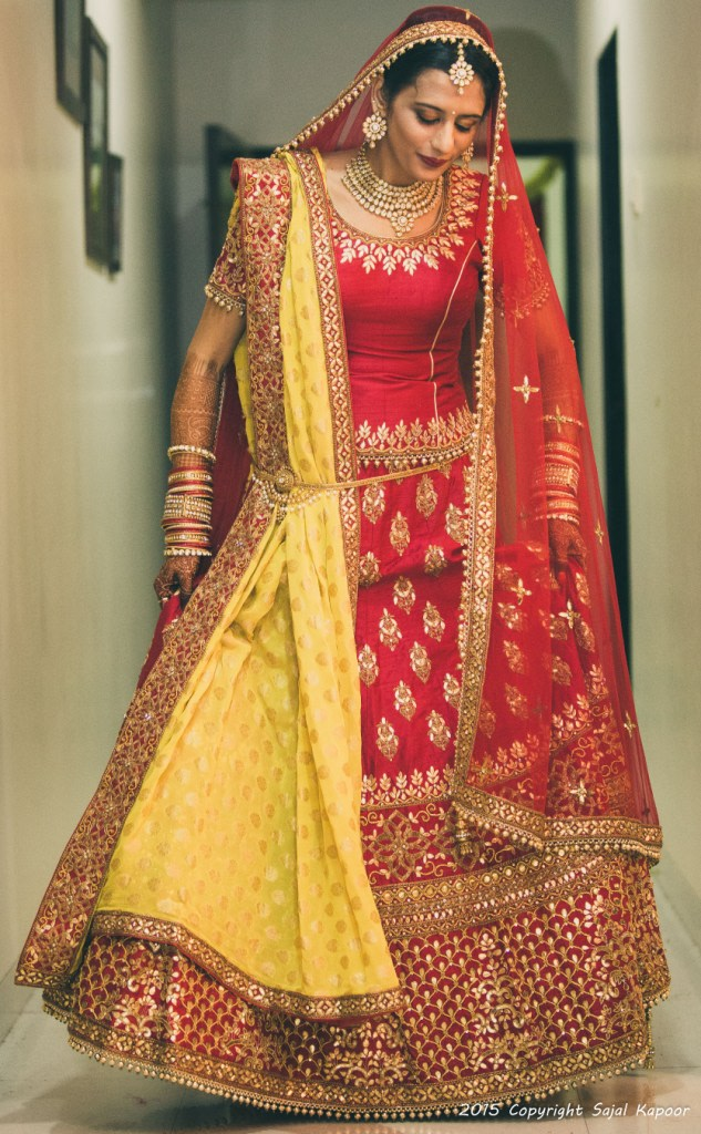 Bride Wearing a Crimson Red Lehenga With Zardozi Work by Sajal Kapoor Wedding-photography Wedding-dresses | Weddings Photos & Ideas