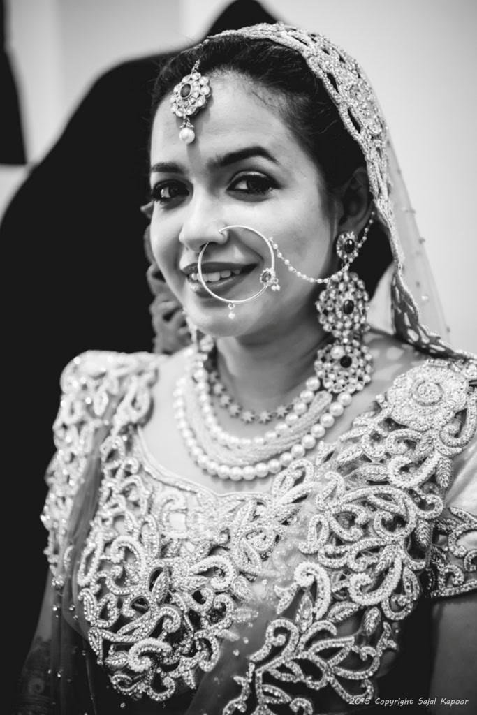 Bride Looking Ethereal in Black and White by Sajal Kapoor Wedding-photography | Weddings Photos & Ideas