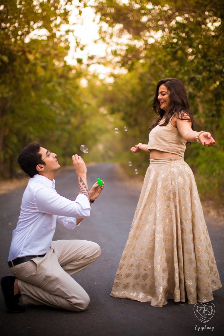 Bride and Groom-To-Be Enjoying With Bubbles by Sajal Kapoor Wedding-photography | Weddings Photos & Ideas
