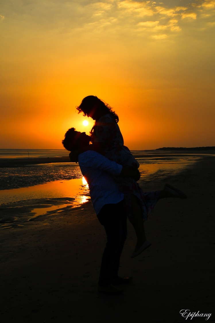 Bride and Groom To-Be Enjoying Sunset By the Beach by Sajal Kapoor Wedding-photography | Weddings Photos & Ideas