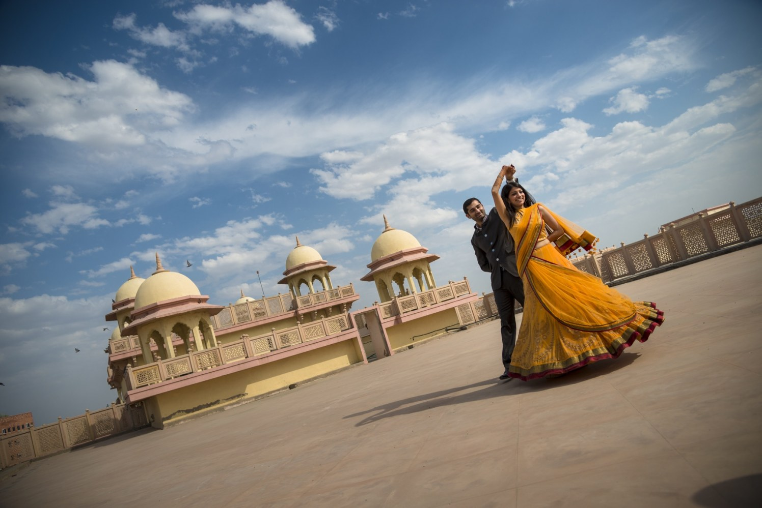 Twirling Bride To-Be Wearing Yellow Lehenga by Conscious Cinematic Arts Wedding-photography | Weddings Photos & Ideas