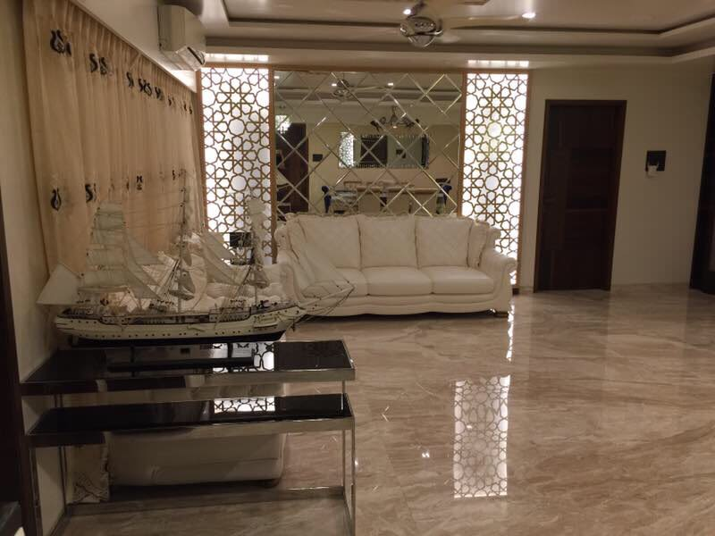 Beige Themed Living Room Interiors by Shweta Danwe Desai Living-room Contemporary | Interior Design Photos & Ideas
