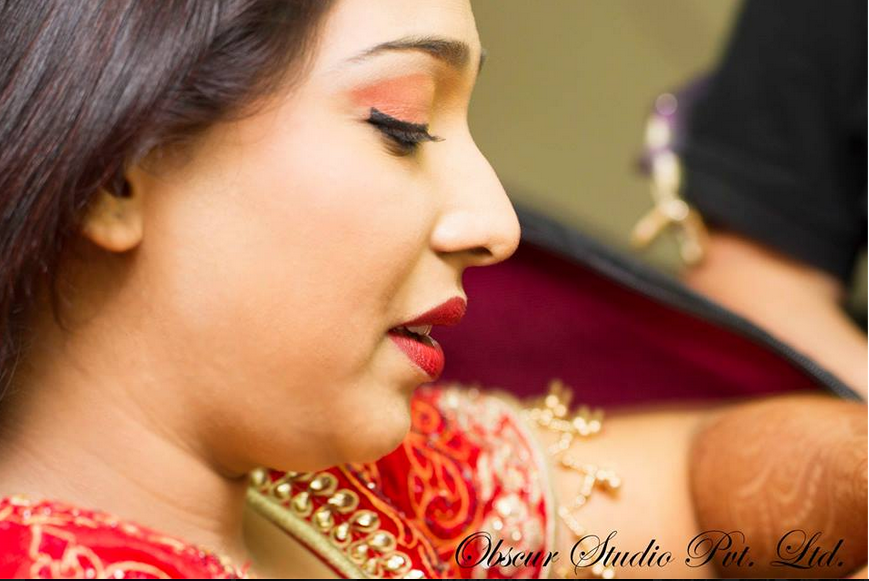 Bride Wearing Natural Peach Makeup by Obscur Photography Wedding-photography Bridal-makeup | Weddings Photos & Ideas