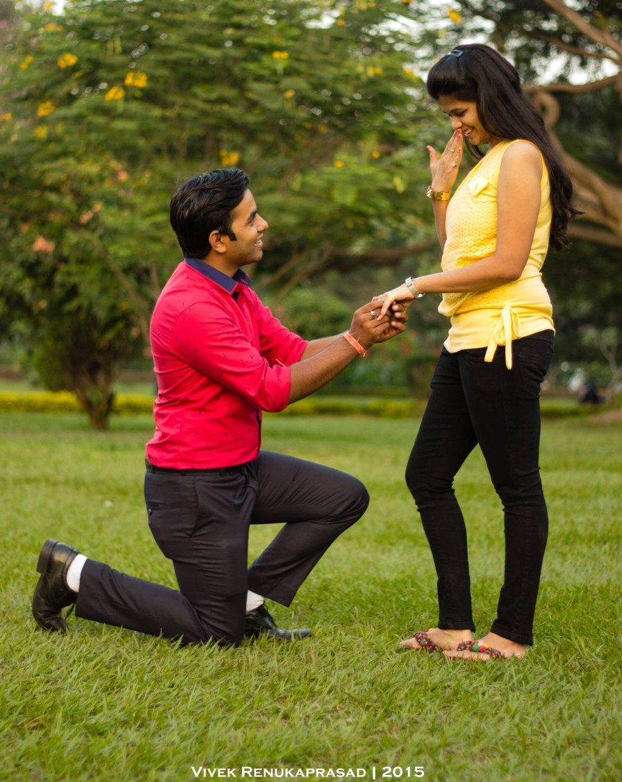 Groom To-Be Proposing His Bride To-Be by Vivek Renukaprasad Wedding-photography | Weddings Photos & Ideas