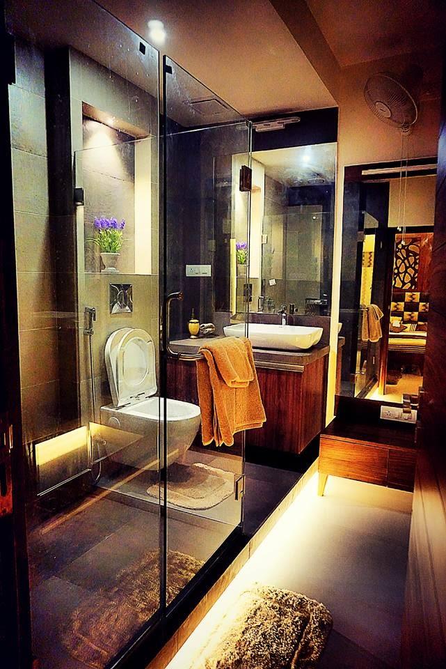 Small Bathroom With Glass Enclosure by Mitul Shah Bathroom Contemporary | Interior Design Photos & Ideas