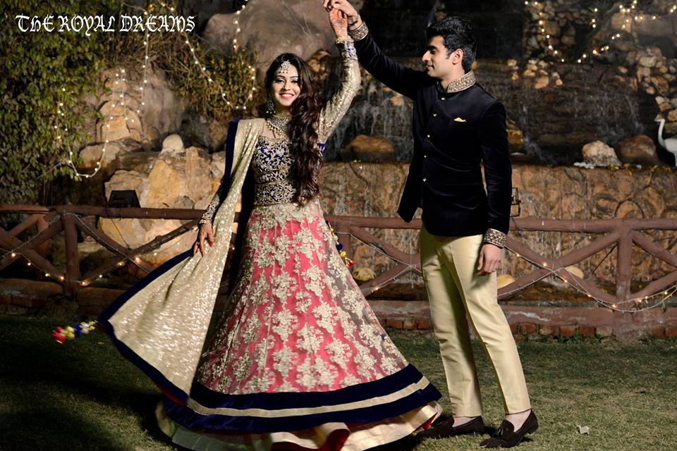 Twirling Bride To-Be During Her Reception by Nitin Tanwar Wedding-photography | Weddings Photos & Ideas