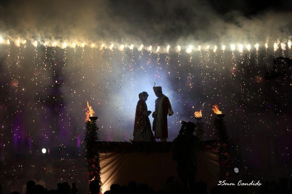 Bride And Groom On Jaimala Stage by Sagar Thackar Wedding-decor | Weddings Photos & Ideas