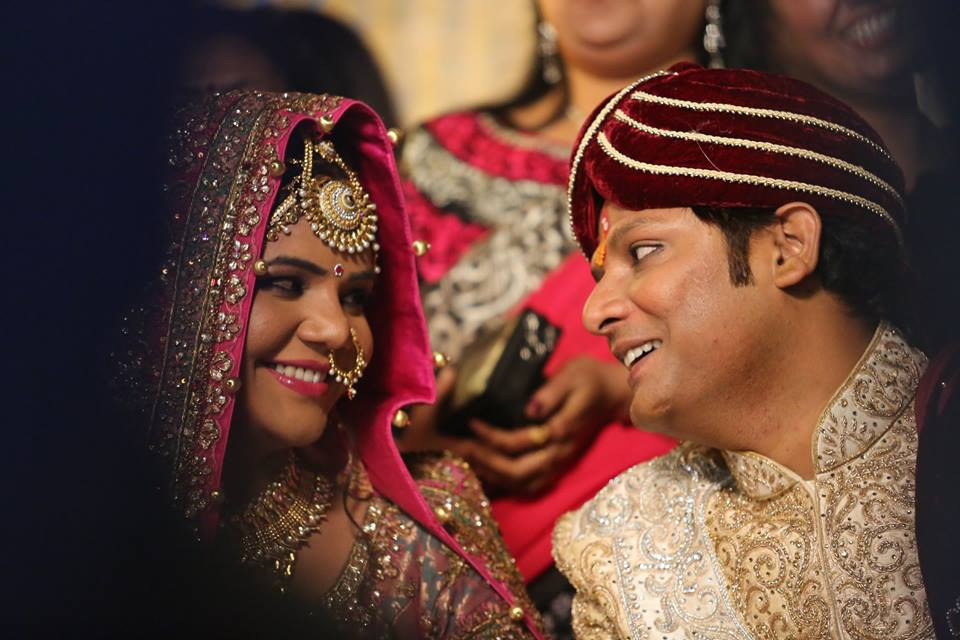 Happy Bride and Groom During Their Wedding by Sagar Thackar Wedding-photography | Weddings Photos & Ideas