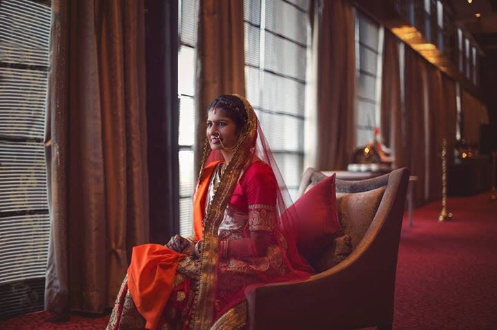 Regal Bride Wearing Pink and Orange Lehenga by Sagar Thackar Wedding-photography | Weddings Photos & Ideas