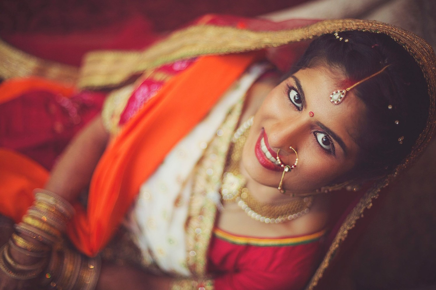 Gorgeous Bride Wearing Dainty Jewelry by Sagar Thackar Wedding-photography | Weddings Photos & Ideas