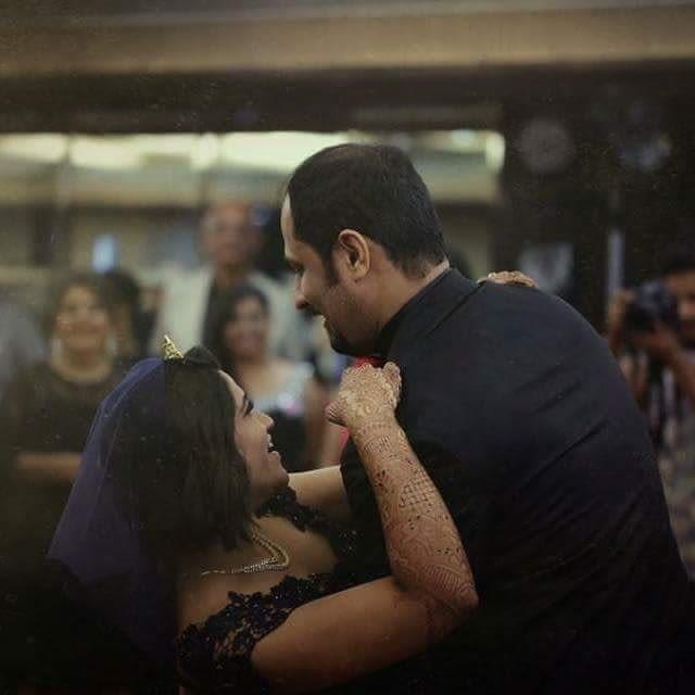 Bride and Groom In a Happy Mood During Their Reception by Sagar Thackar Wedding-photography | Weddings Photos & Ideas
