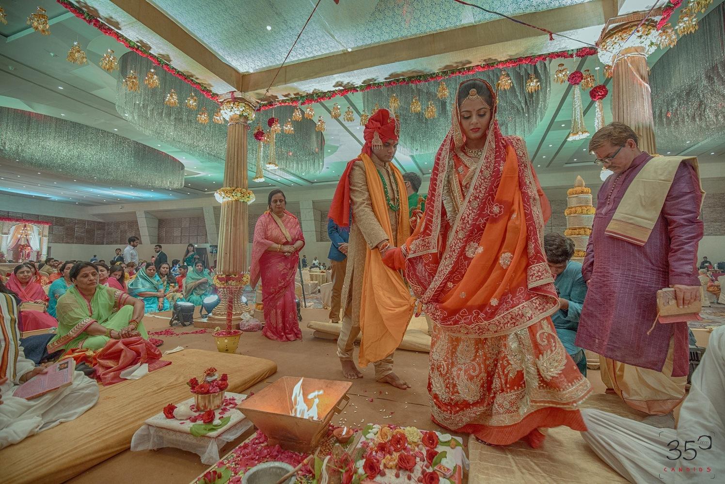 Bride and Groom Taking Pheras by Sagar Thackar Wedding-photography   Weddings Photos & Ideas