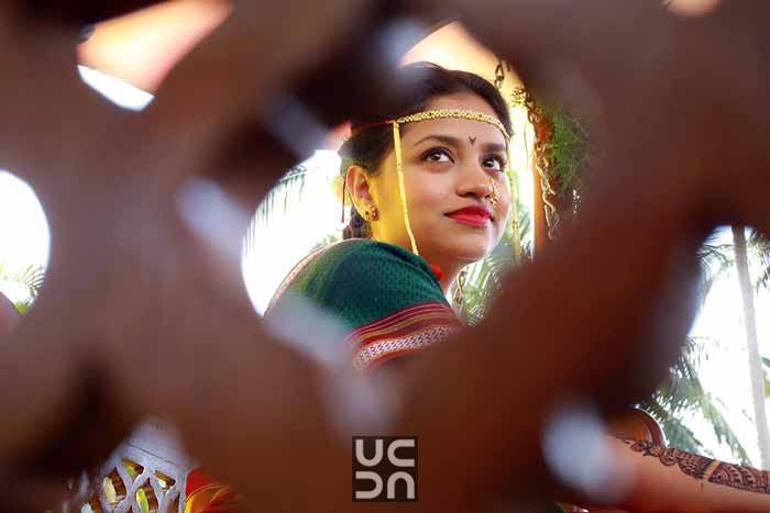 Marathi bride captured through interesting angle by Madhuri Sharma Photography Wedding-photography | Weddings Photos & Ideas