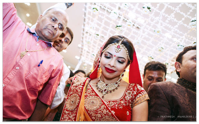 Stunning bride in red lehenga by The Glimmers Picture Wedding-photography | Weddings Photos & Ideas