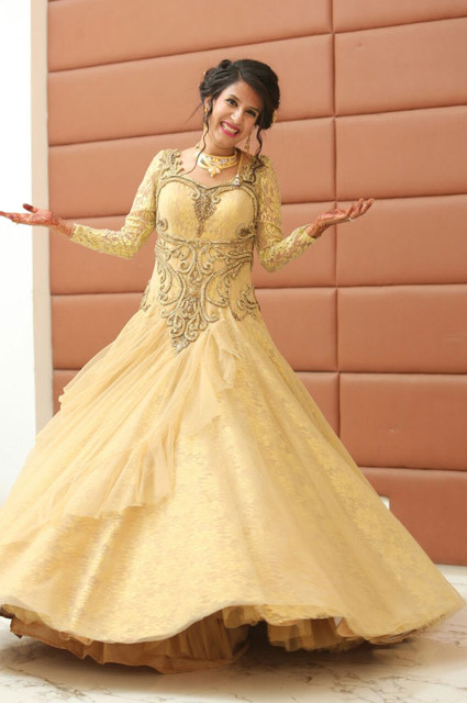 Lemon Yellow Anarkali Suit Is Perfect For Engagement Day by Kshitij Gupta Wedding-dresses | Weddings Photos & Ideas