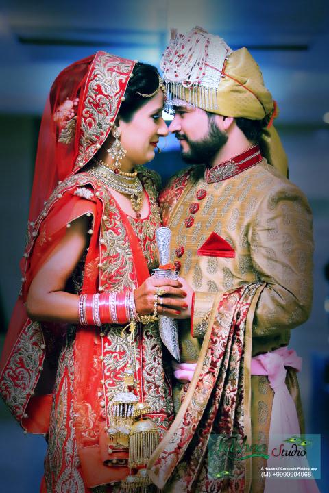 Stunning punjabi bride and groom frame by Krishna Studio Wedding-photography | Weddings Photos & Ideas