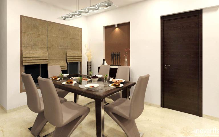 A designer dining room! by Inovartts Dining-room | Interior Design Photos & Ideas