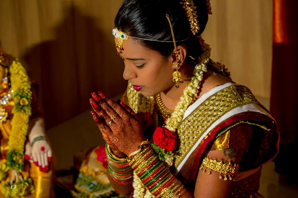 South Indian Bride Performing Rituals During Her Wedding by Bharath Venkatesh Wedding-photography | Weddings Photos & Ideas