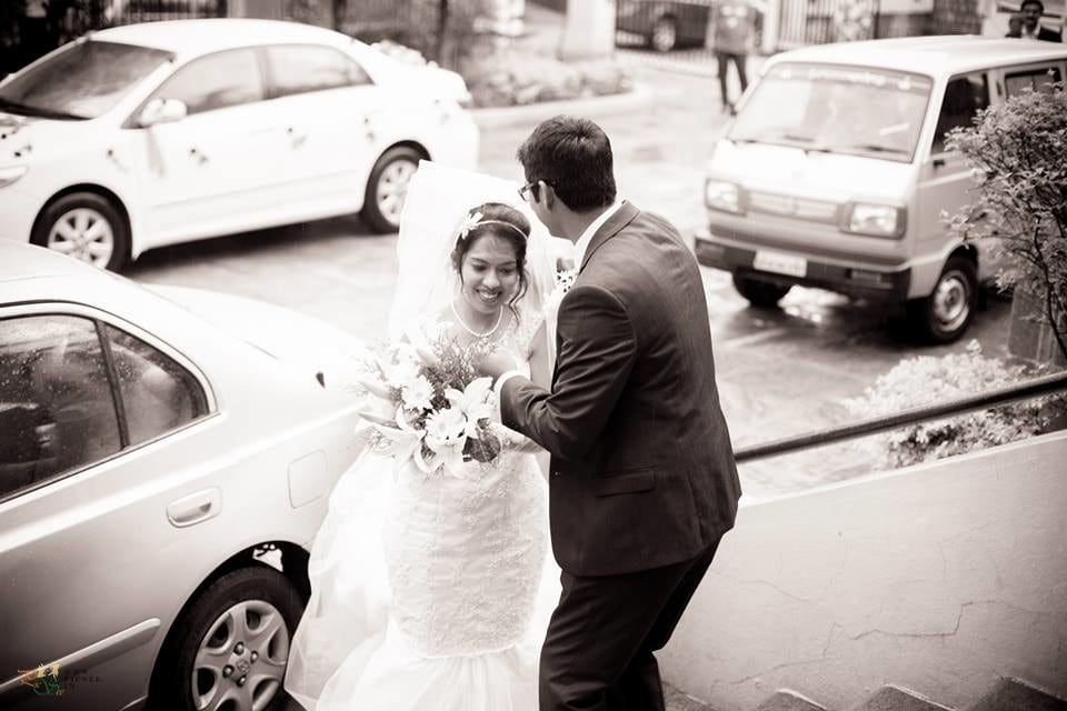 Beautiful Christian Bride and Groom Making an Entry by Bharath Venkatesh Wedding-photography | Weddings Photos & Ideas