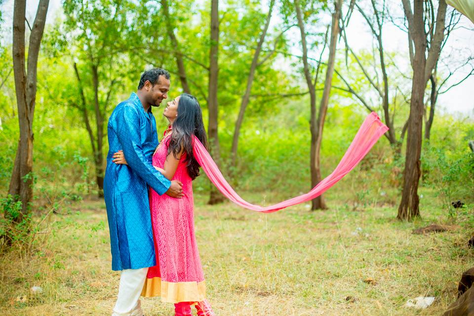 Bride and Groom To-Be Striking a Filmy Pose by Bharath Venkatesh Wedding-photography | Weddings Photos & Ideas