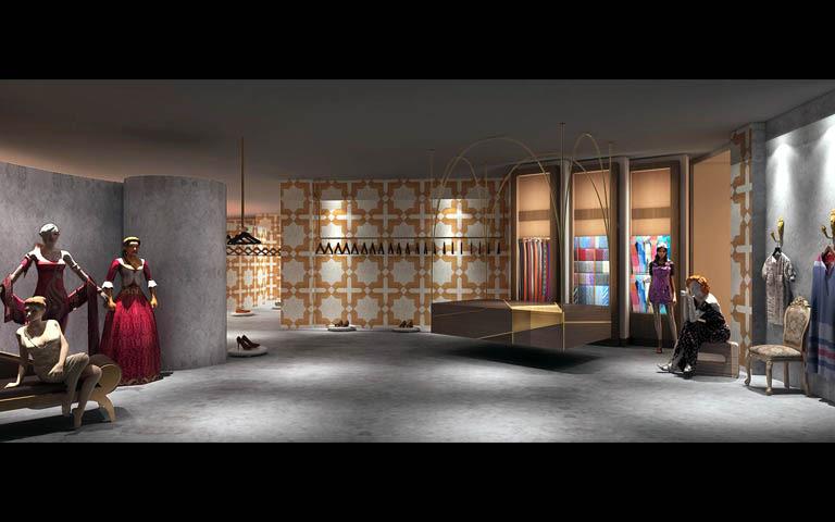 Large Showroom With Mannequins by Parvez Alam Contemporary | Interior Design Photos & Ideas