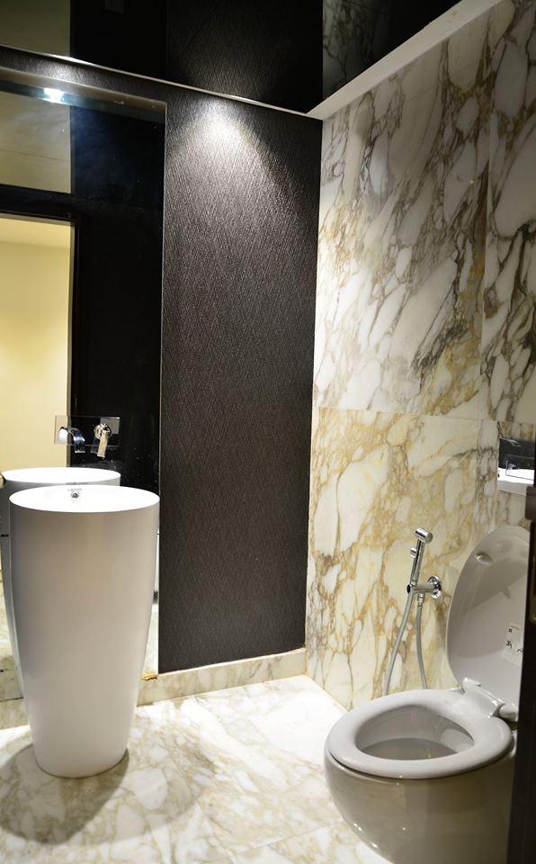 Sleek Bathroom Interiors With Tiles On Flooring And Walls by Parvez Alam Bathroom Modern | Interior Design Photos & Ideas