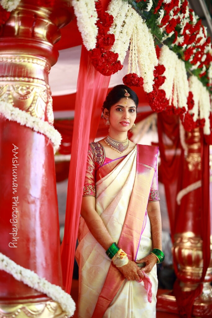 Classic Bride Wearing Silk Saree! by Amshuman Wedding-photography | Weddings Photos & Ideas