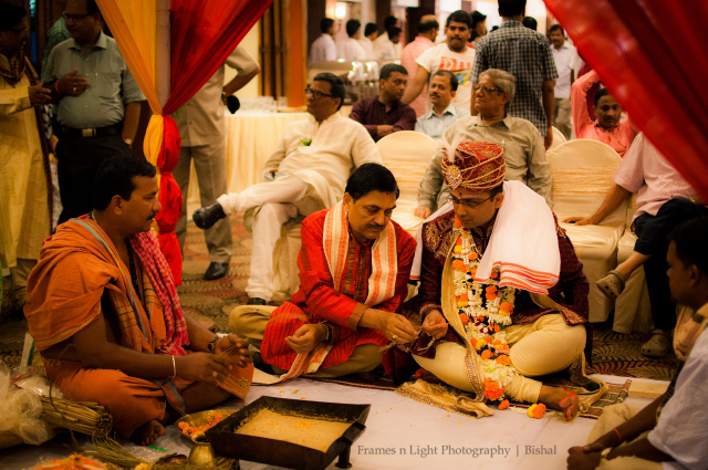Groom during his wedding ceremony by Frames n Light Photography - Bishal Wedding-photography | Weddings Photos & Ideas