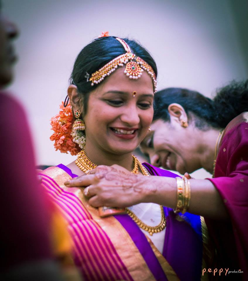 Candid shot of bride-to-be by Peppy Production Wedding-photography | Weddings Photos & Ideas