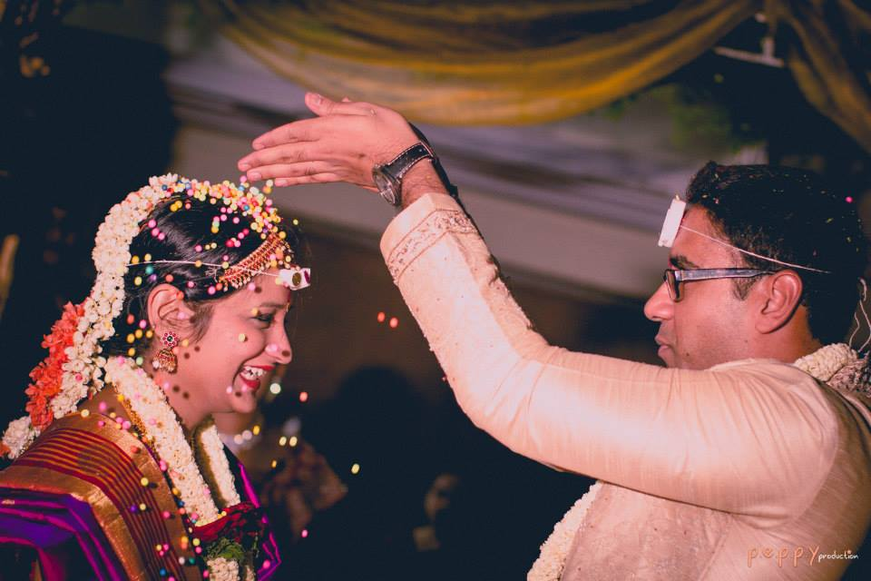Candid bridal and groom shot during their wedding ceremony by Peppy Production Wedding-photography | Weddings Photos & Ideas