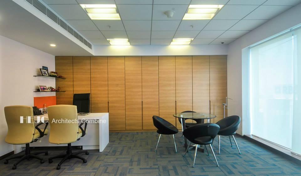 Modern Office With Wooden Wall Art by Hoshedaar Eruch Carnac Modern | Interior Design Photos & Ideas