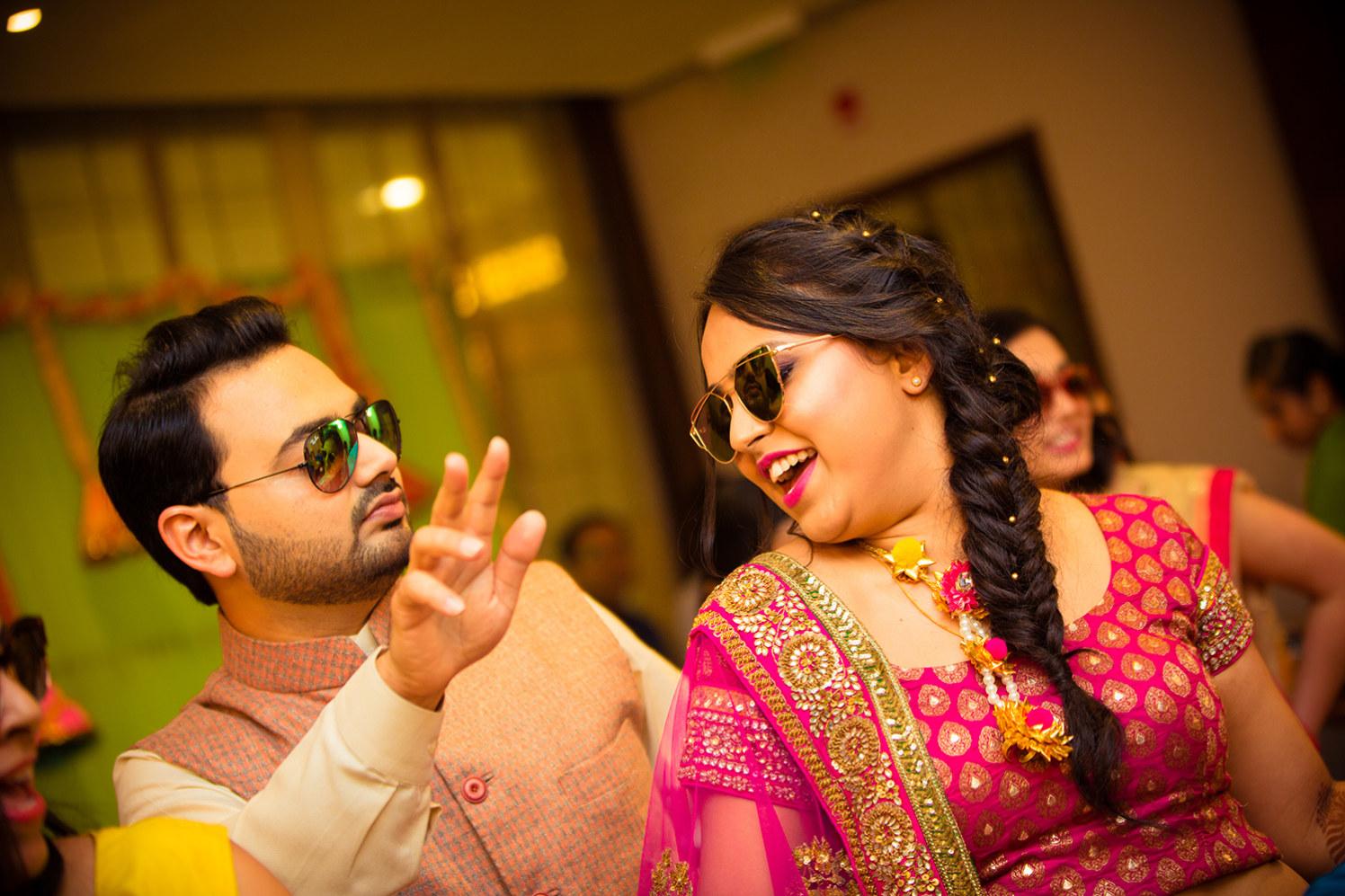 Bride Wearing Trendy Fishtail Braid on Her Sangeet by Bosco Naveen Wedding-hairstyles | Weddings Photos & Ideas