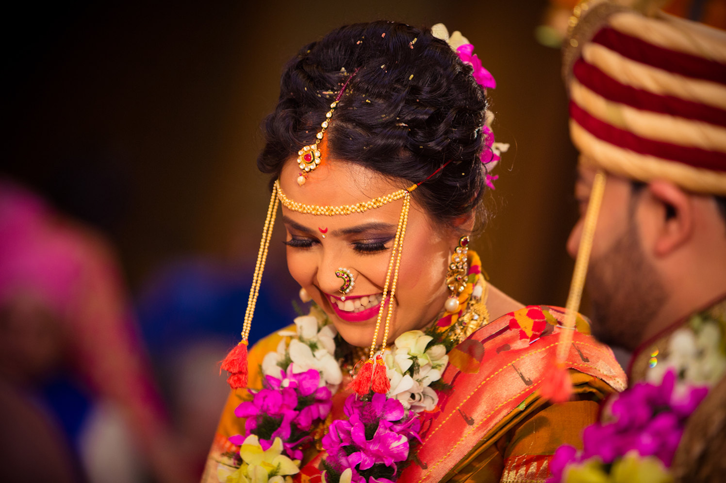 Bride Wearing Purple Eye Makeup by Bosco Naveen Wedding-photography | Weddings Photos & Ideas