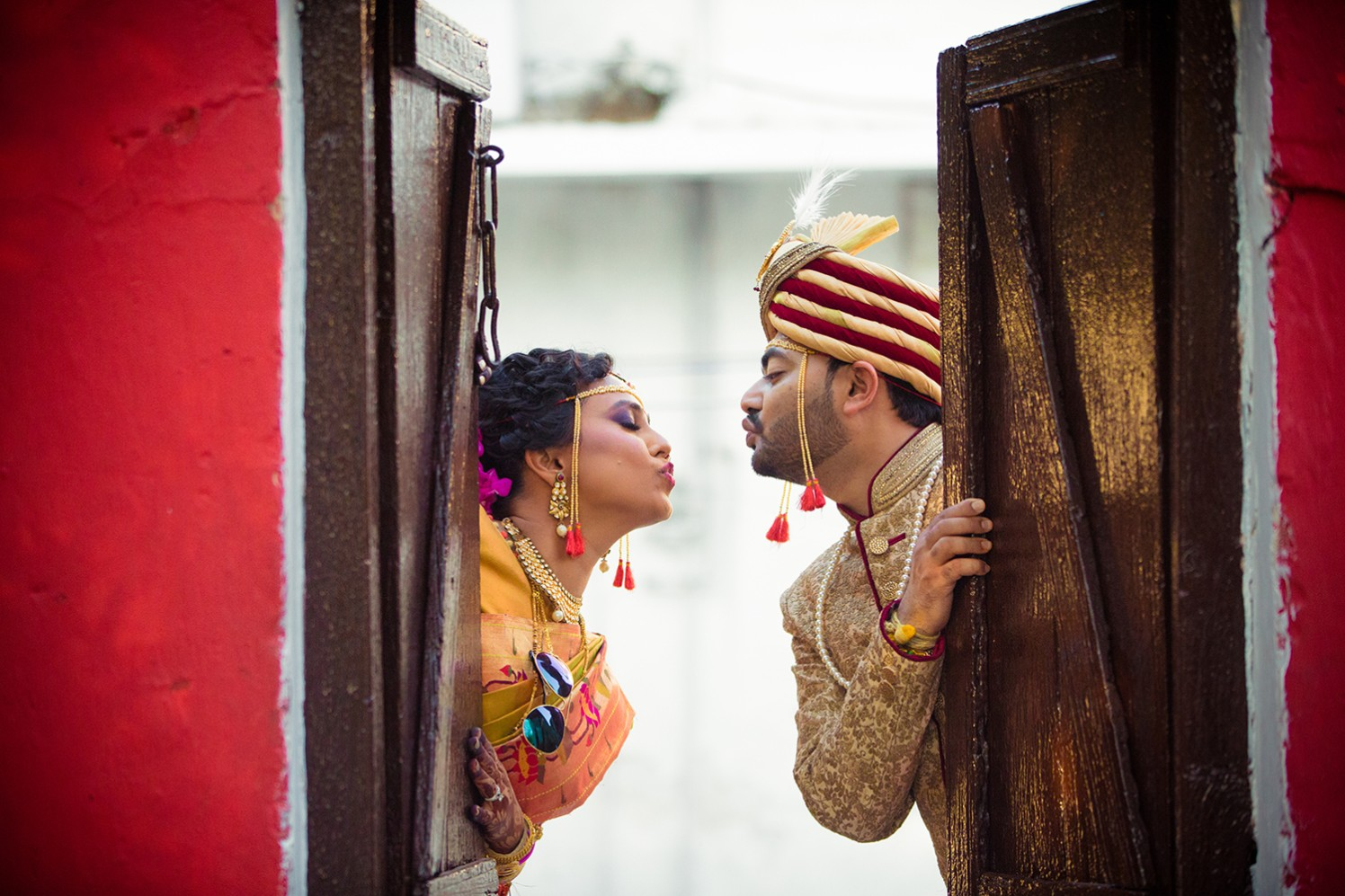 Marathi Bride and Groom Wearing Trendy Accessories by Bosco's Wedding Management and Media House  Wedding-photography | Weddings Photos & Ideas