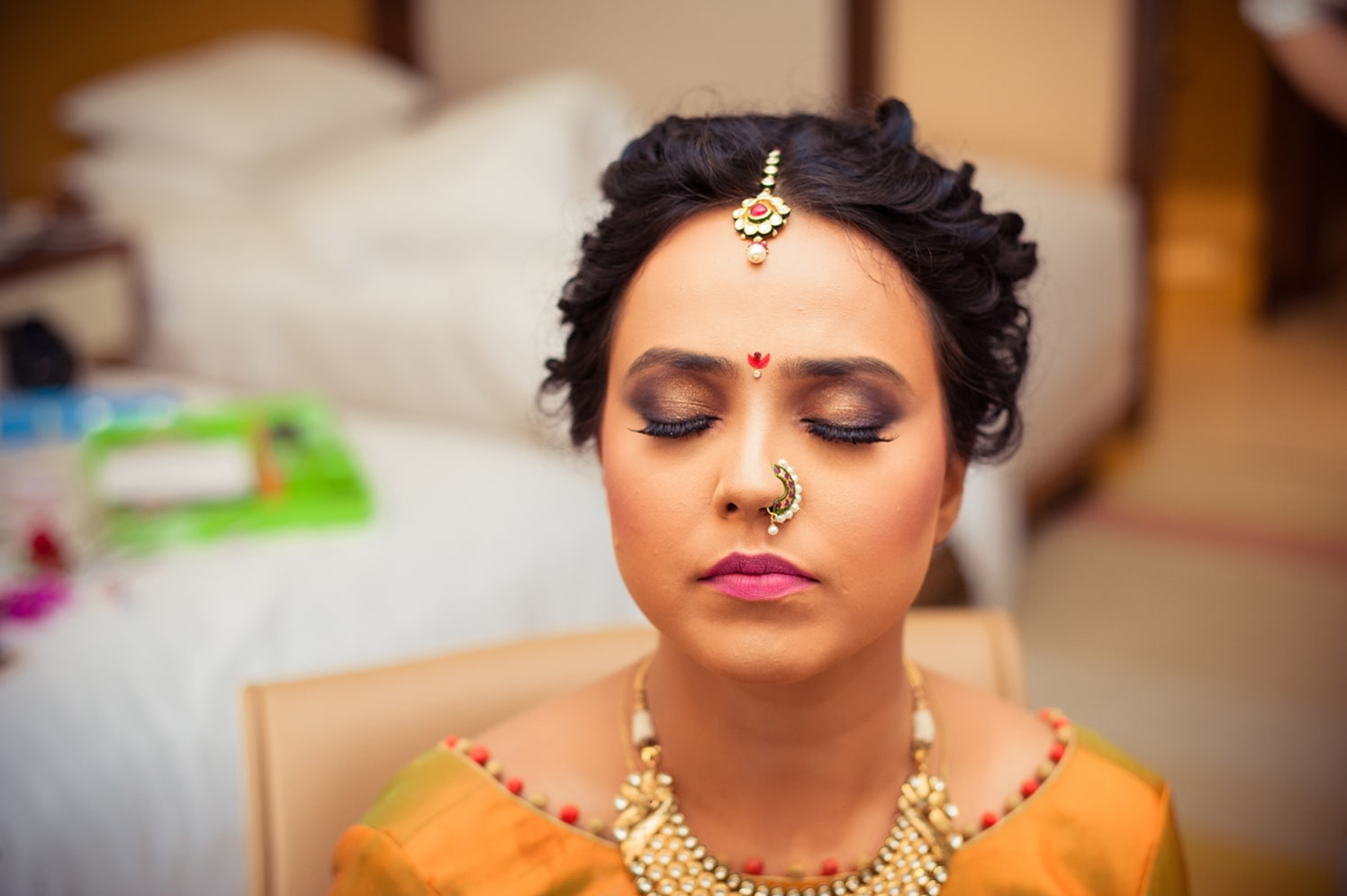 Bride Wearing Stunning Smokey Eye Look by Bosco Naveen Bridal-makeup | Weddings Photos & Ideas