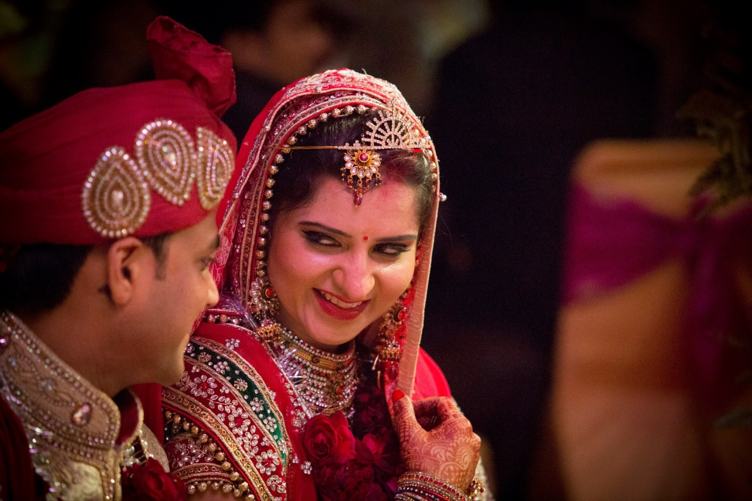 Bride Wearing Trendy Accessories by Bosco Naveen Wedding-photography | Weddings Photos & Ideas