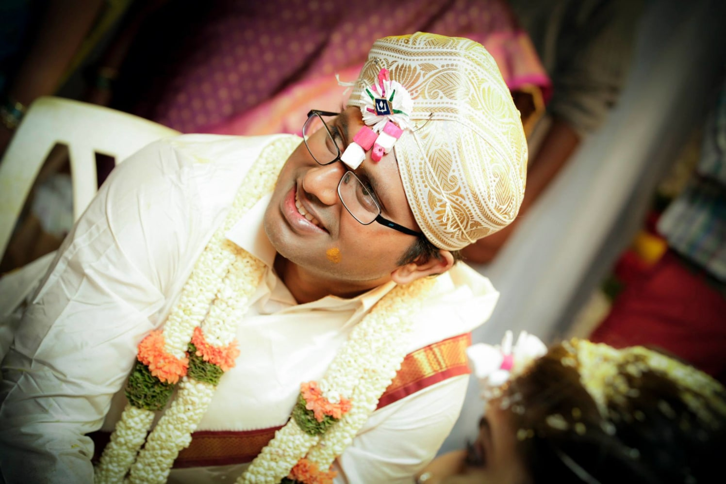 South Indian Groom Wearing Traditional Turban by Bosco Naveen Wedding-photography Groom-wear-and-accessories | Weddings Photos & Ideas